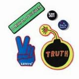 Levi's Accessories | Levi'S Sew On Patches & Pin Set | Color: Blue/Yellow | Size: Assorted