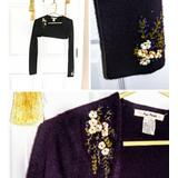 Free People Jackets & Coats | Free People Eggplant Floral Embellished Bolaro | Color: Purple | Size: M
