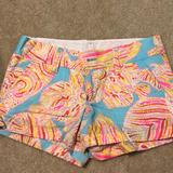 Lilly Pulitzer Shorts | Lily Pulitzer Shorts | Color: Blue/Yellow | Size: 00