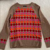 J. Crew Sweaters   100% Lambs Wool Sweater   Color: Brown/Red   Size: S
