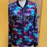 Athleta Jackets & Coats   Athleta Watercolor Jacket   Color: Black/Blue   Size: M