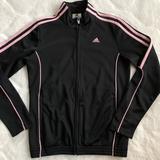 Adidas Jackets & Coats | Adidas Girls Track Jacket | Color: Black/Pink | Size: Mg