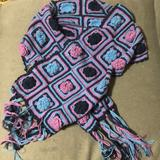 American Eagle Outfitters Accessories | American Eagle Hand Knit Scarf | Color: Blue/Purple | Size: Os