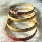 J. Crew Jewelry | J.Crew Bangles!! Perfect For Summer!! | Color: Red/Yellow | Size: Os
