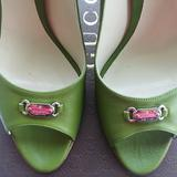 Gucci Shoes | Authentic Gucci Nwot Stiletto Heels | Color: Green/White | Size: 11