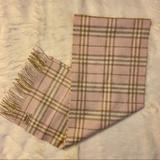 Burberry Accessories | Authentic Burberry Classic Check Cashmere Scarf | Color: Pink/Tan | Size: Os
