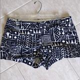 J. Crew Shorts | J Crew Navy White Aztec Print Cotton Short 3 10 | Color: Blue/White | Size: 10