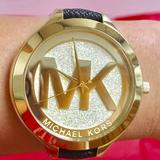 Michael Kors Accessories | Authentic Mk Watch | Color: Black/Gold | Size: Adjustable Size Small To Large
