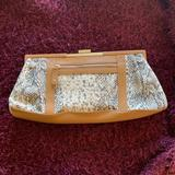 Nine West Bags   $$$ Nine West Clutch   Color: Brown/Cream/Gold/Tan   Size: 14(Widest Point) X6 Approx