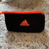 Adidas Bags | Adidas Black And Orange Toiletry Cosmetic Bag | Color: Black/Orange | Size: Os