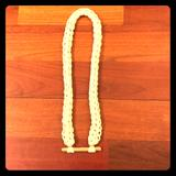 Anthropologie Jewelry | Anthropologie Rope And Wood Necklace | Color: Cream | Size: Length 19.5 Inches