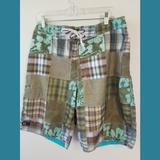 American Eagle Outfitters Swim | American Eagle Ae77 Print Swim Trunks Sz 32 | Color: Green | Size: 32