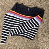 Free People Sweaters | Free People Super Warm Cozy Sweater. Size Small. | Color: Black/White | Size: S