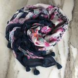 American Eagle Outfitters Accessories | American Eagle Square Colorful Scarf With Tassels | Color: Pink/Purple | Size: Os