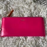 Kate Spade Accessories   Kate Spade Leather Pencil Casemakeup Bag   Color: Pink   Size: Os
