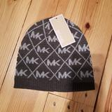 Michael Kors Other | Michael Kors Diamond Print Beanie Hat New | Color: Gray/Silver | Size: Os