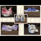 Converse Shoes | Custom Made Bedazzled Sneakers. Converse | Color: Brown | Size: Various
