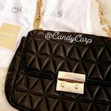 Michael Kors Bags | **Authentic** Michael Kors Quilted Leather | Color: Black | Size: 9.25w X 7h X 3d