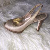 Jessica Simpson Shoes   *Nwt* Jessica Simpson Gold Heel   Color: Gold   Size: 9