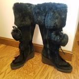 Coach Shoes | Coach Black Black Fur Lined Knee High Boots | Color: Black | Size: 6