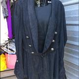 Free People Jackets & Coats | Free People Black Linen Boho Jacket Size S | Color: Black | Size: S
