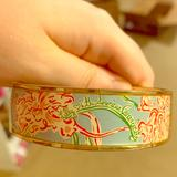 Lilly Pulitzer Accessories | Lilly Loves Hope American Cancer Society Bangle | Color: Blue/Pink | Size: Os