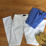 American Eagle Outfitters Jeans | American Eagle White Skinny Chino Pant | Color: White | Size: 0
