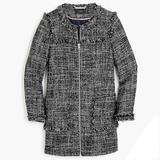 J. Crew Jackets & Coats   J Crew Tweed Swing Coat, Size 10   Color: Black/White   Size: 10
