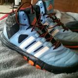 Adidas Shoes | Adidas Hitop Basketball Shoes | Color: Blue/White | Size: 6.5b