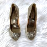 Anthropologie Shoes   Anthro Badgley Mischka Jewel Crystal Wedding Shoes   Color: Gold/Silver   Size: 7.5