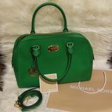 Michael Kors Bags | Michael Kors Green Leather Bag | Color: Green | Size: Os