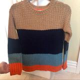 Anthropologie Sweaters | Anthropologie Sparrow Olaf Colorblock Sweater | Color: Blue/Brown | Size: S
