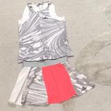 Adidas Matching Sets | Adidas Stella Mccartney Girls Tennis Set | Color: Gray/Orange | Size: Mg