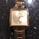 Kate Spade Jewelry | Beautiful Gold Kate Spade Watch. Rare Square Face | Color: Gold | Size: Os