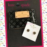 Kate Spade Jewelry | Kate Spade Earrings | Color: Black/Gold | Size: 38 Diameter