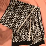 Michael Kors Other | Michael Kors Black And White Letter Scarf | Color: Black/White | Size: Os