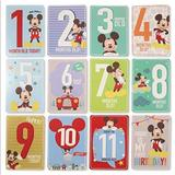 Disney Other | Nwt Mickey Mouse Baby Milestone Cards | Color: Black/Red | Size: Osbb