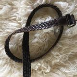 J. Crew Accessories   32 J Crew Dark Brown Leather Braided Belt   Color: Brown   Size: 32
