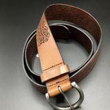American Eagle Outfitters Accessories | American Eagle Brown Leather Perforated Boho Belt | Color: Brown | Size: 35-41 Waist