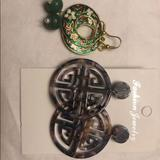 Anthropologie Jewelry | Dangle Earrings | Color: Brown/Green | Size: Os