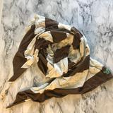 American Eagle Outfitters Accessories | American Eagle Brown And White Striped Scarf | Color: Brown/White | Size: Os