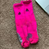Adidas Underwear & Socks | Adidas Mid Calf Athletic Socks | Color: Pink | Size: M