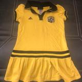 Adidas Dresses | Crew Dress Adidas Size L (6x} | Color: Black/Yellow | Size: 6xg