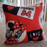 Disney Accessories | Minnie Mouse Pillow And Two Other Items. | Color: Black/Red | Size: Osg