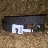 Michael Kors Accessories | Michael Kors Reversible Logo Buckle Pvc Belt | Color: Brown | Size: Os