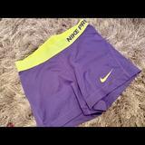 Nike Shorts | Nike Pro Multi Color Spandex | Color: Green/Purple | Size: S