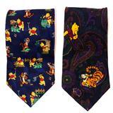 Disney Accessories | 2 Disney - Winnie The Pooh & Friends - 100% Silk N | Color: Blue/Yellow | Size: Os