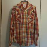 Levi's Shirts   2xl Levi'S Modern Plaid Snap Western Shirt   Color: Orange/Yellow   Size: Xxl