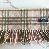 Burberry Accessories | Authentic Burberry Scarf | Color: Cream/Pink | Size: Os