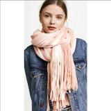 Free People Other | Free People Stripe Fringe Scarf | Color: Cream/Tan | Size: Os
